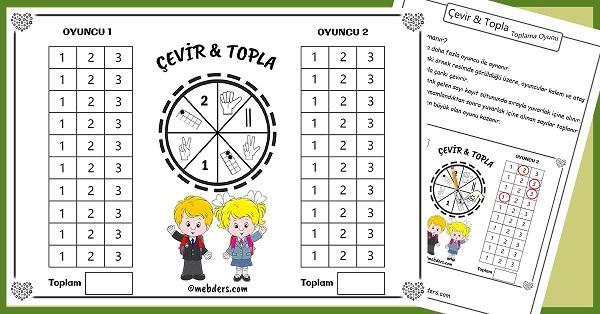 Çevir Topla - Miniklere Toplama Oyunu