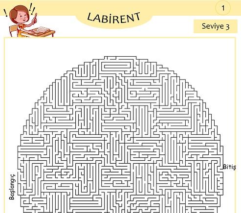 Seviye 3 - Labirent Bulmaca Etkinliği 1