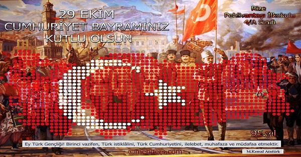 95.Yıl Cumhuriyet Panosu 50x70cm Poster