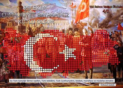 95.Yıl Cumhuriyet Panosu 50x70cm Poster 36