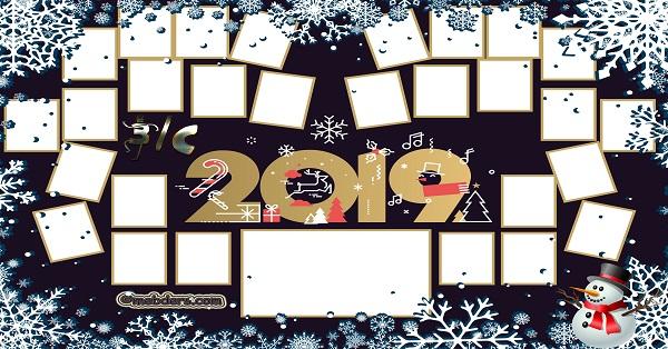 3C Sınıfı için 2019 Yeni Yıl Temalı Fotoğraflı Afiş (28 öğrencilik)