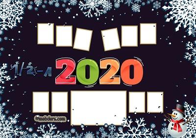1 ve 2A Sınıfı için 2020 Yeni Yıl Temalı Fotoğraflı Afiş (10 öğrencilik)