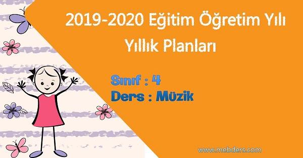 2019 - 2020 Yılı 4.Sınıf Müzik Yıllık Planı (Meb)