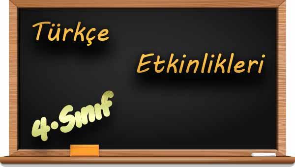 4.Sınıf Türkçe Harf Bilgisi Etkinliği 2