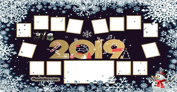 3B Sınıfı için 2019 Yeni Yıl Temalı Fotoğraflı Afiş (14 öğrencilik)
