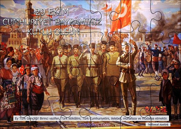 Cumhuriyet Panosu Puzzle Poster - 97.Yıl (24 Parça)