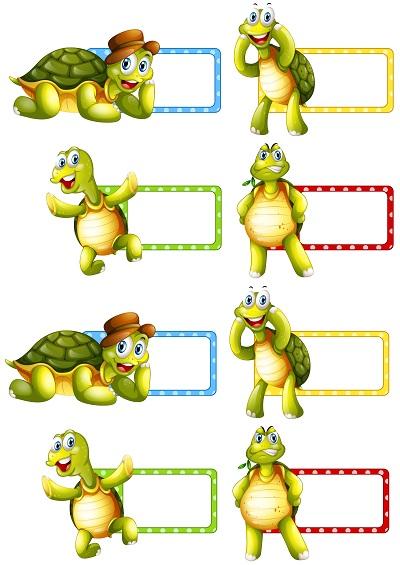 Kaplumbağalı yaka kartı