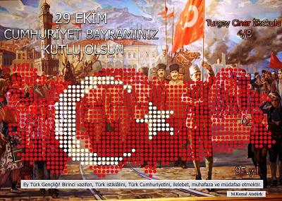 95.Yıl Cumhuriyet Panosu 50x70cm Poster 12