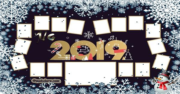 1G Sınıfı için 2019 Yeni Yıl Temalı Fotoğraflı Afiş (16 öğrencilik)