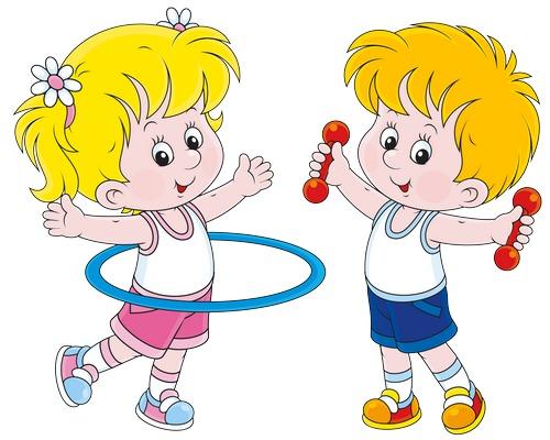 Clipart jimnastik yapan çocuklar resmi png