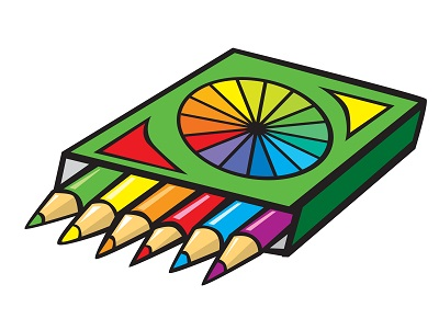 Renkli boya kalemleri resmi png