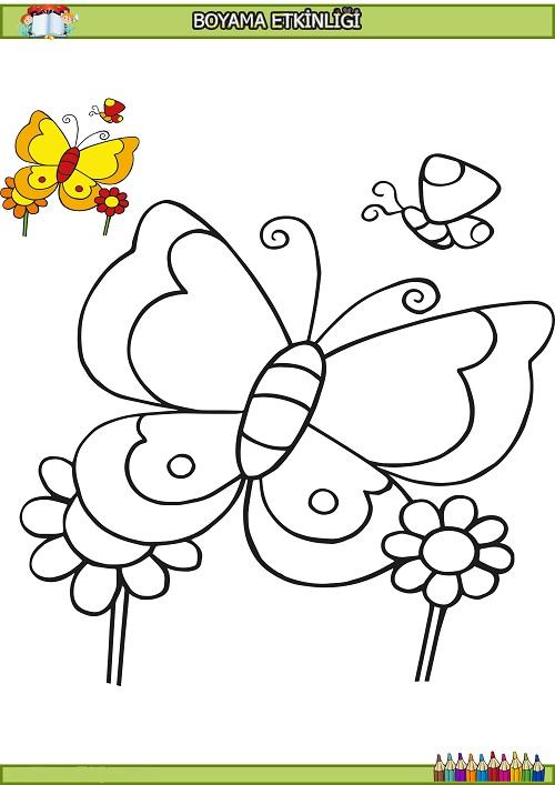 Sevimli Kelebek Boyama Etkinligi Meb Ders