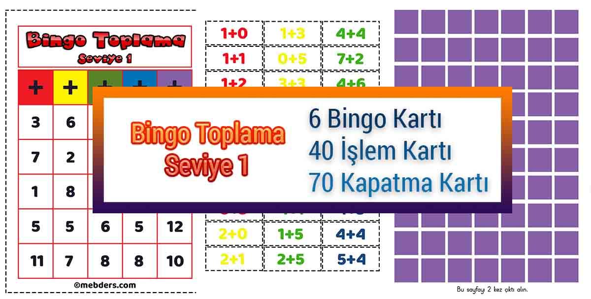 Bingo Toplama Oyunu - Seviye 1