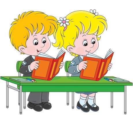 Clipart sırada kitap okuyan çocuklar resmi png