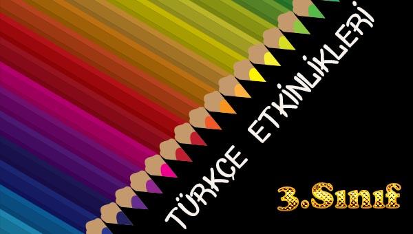 3.Sınıf Türkçe Basit Sözcükler, Türemiş Sözcükler ve Birleşik Sözcükler Etkinliği