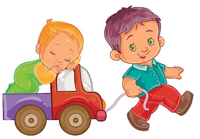 Clipart oyuncak arabayla bebek çeken erkek çocuk resmi