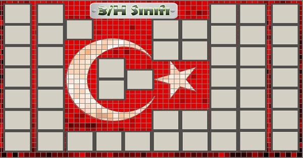 Model 54, 3H şubesi için Türk bayraklı fotoğraf eklemeli kapı süslemesi - 50 öğrencilik