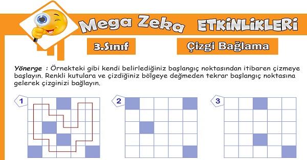 3.Sınıf Mega Zeka Etkinliği - Çizgi Bağlama
