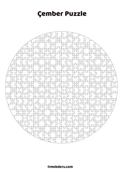 Çember puzzle şablon 2