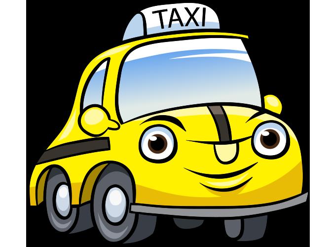 Gülen yüzlü taksi resmi png