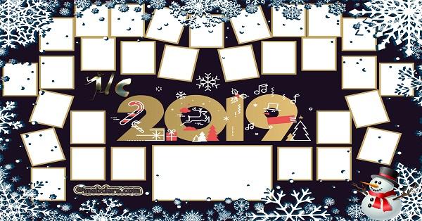 1C Sınıfı için 2019 Yeni Yıl Temalı Fotoğraflı Afiş (30 öğrencilik)
