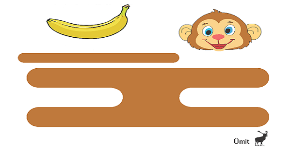 Üç Boyutlu Maymun Kes Yapıştır Etkinliği