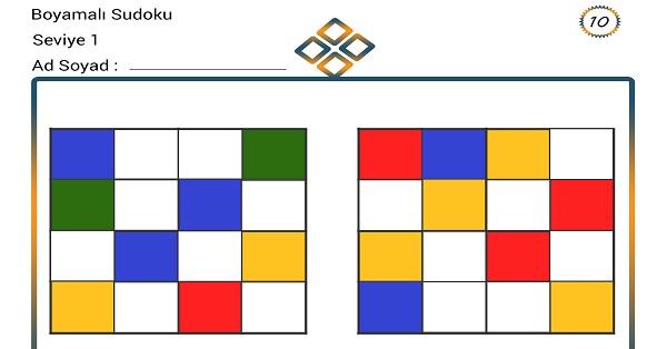 Boyamalı Sudoku 10