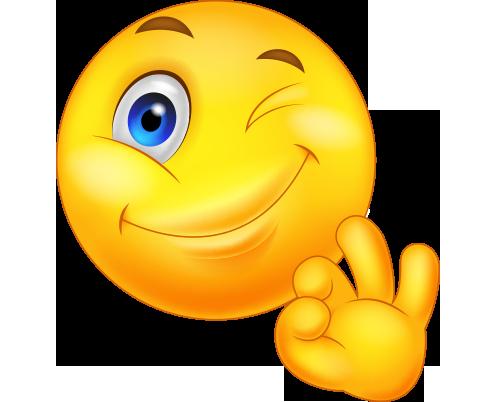 Göz kırpan png emoji resmi