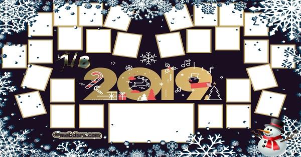 1B Sınıfı için 2019 Yeni Yıl Temalı Fotoğraflı Afiş (28 öğrencilik)