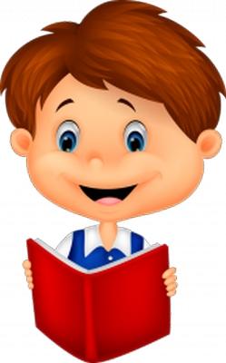 Clipart kitap okuyan erkek çocuk resmi png