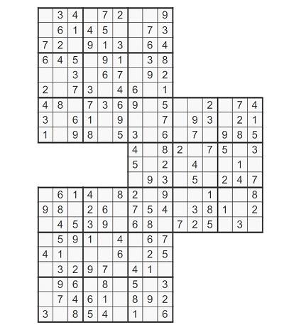 Üçlü Samurai Sudoku 4