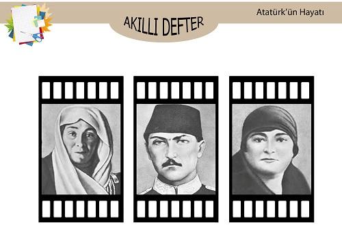 Atatürk'ün Hayatından Akıllı Defter şablonu