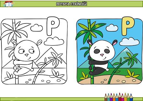 Panda Boyama Etkinligi Meb Ders