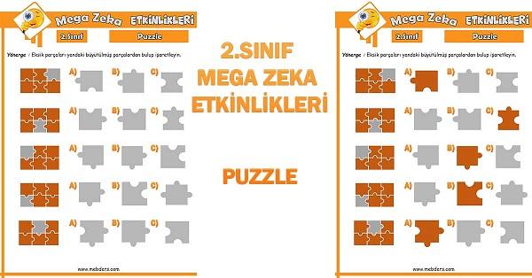 2.Sınıf Mega Zeka Etkinliği - Puzzle