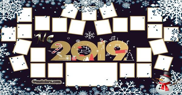 1C Sınıfı için 2019 Yeni Yıl Temalı Fotoğraflı Afiş (25 öğrencilik)