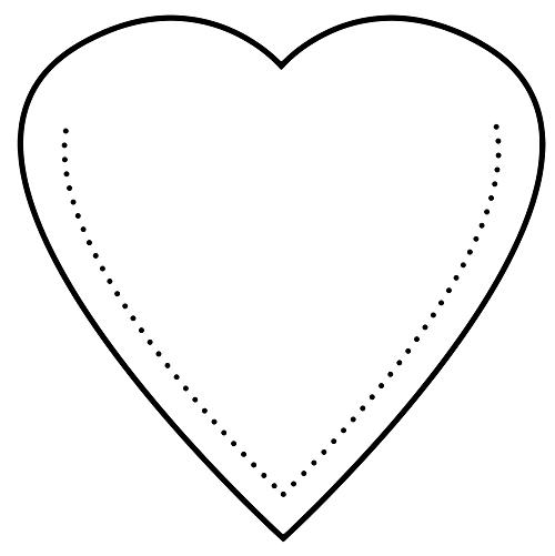 Kalp şeklinde cep şablon