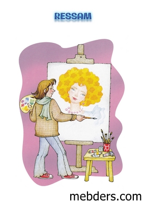 Clipart ressam meslek kartı