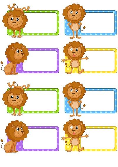 Yavru aslanlı yaka kartı