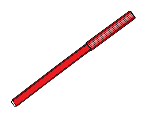 Kırmızı boya kalemi resmi png