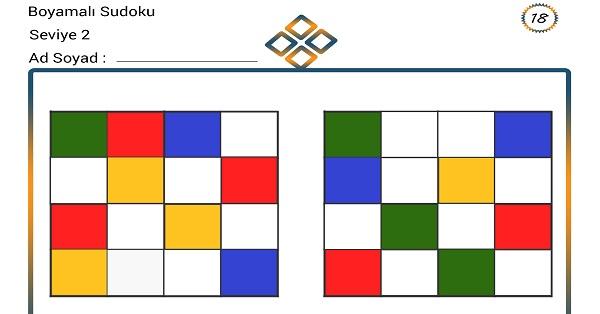 Boyamalı Sudoku 18