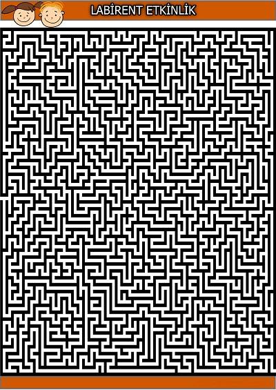 Çok karmaşık labirent bulmaca etkinliği