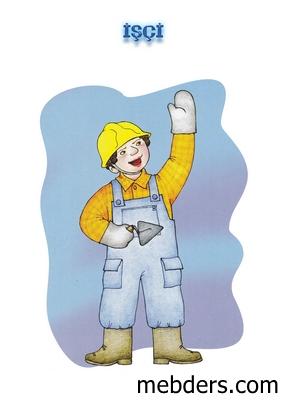 Clipart işçi meslek kartı