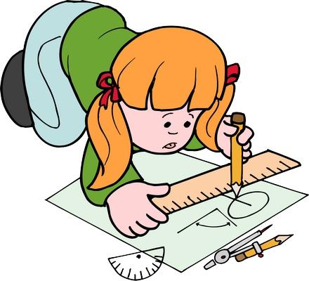 Clipart yerde çizim yapan kız çocuk resmi png