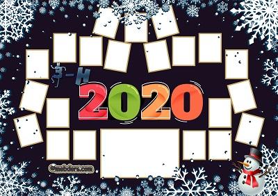 3H Sınıfı için 2020 Yeni Yıl Temalı Fotoğraflı Afiş (21 öğrencilik)