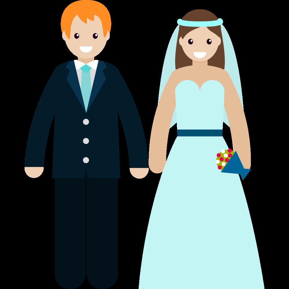 Clipart evlenen çift resmi