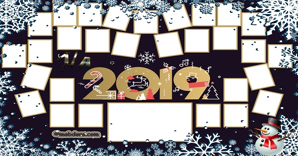 1A Sınıfı için 2019 Yeni Yıl Temalı Fotoğraflı Afiş (29 öğrencilik)