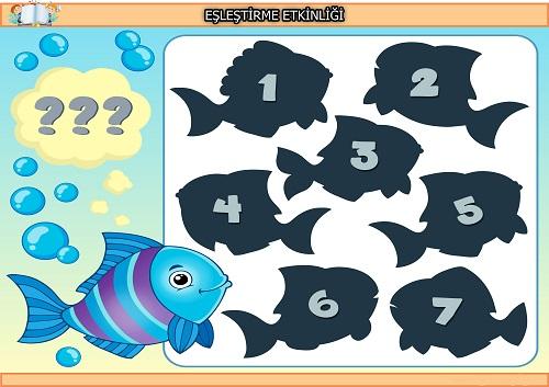 Mavi balık gölgesi eşleştirme etkinliği