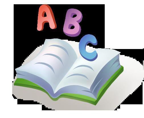 A B C yazılı kitap resmi png