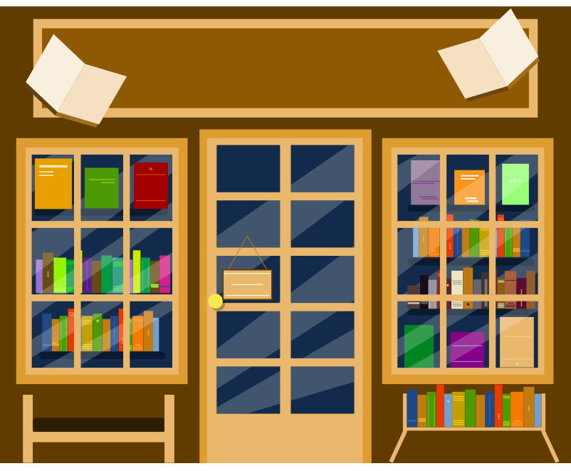 Kütüphane bina resmi png