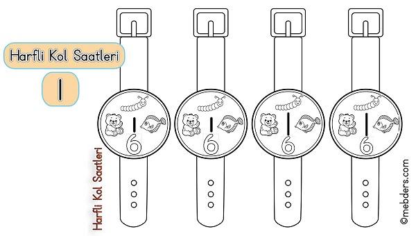 1.Sınıf İlkokuma Harfli Kol Saatleri - I Harfi